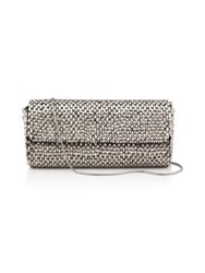 Reiss Souxie Beaded Long Clutch Silver