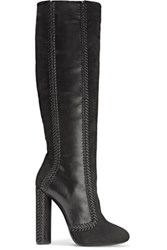 Tom Ford Suede And Leather Over The Knee Boots Black