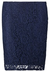Junarose Jrspring May Pencil Skirt Black Iris Dark Blue