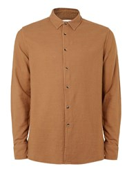 Topman Ltd Camel Neppy Shirt Blue