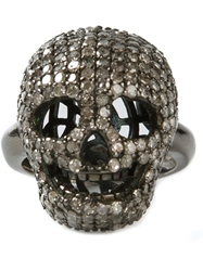 Christian Koban 'Skull' Diamond Ring Grey