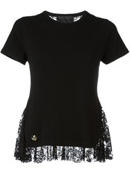 Philipp Plein Lace Back T Shirt Black