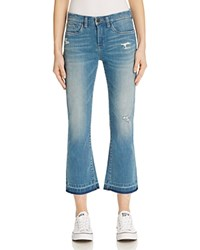Blank Nyc Blanknyc Distressed Crop Flare Jeans In Tap Out