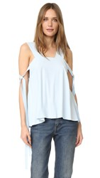 Helmut Lang Side Tie Blouse Selenite