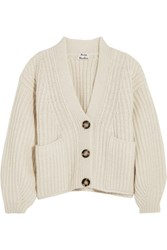 Acne Studios Hadlee Oversized Wool Blend Cardigan Off White