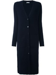 P.A.R.O.S.H. V Neck Button Down Cardi Coat Blue