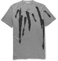 Balenciaga Paint Print Cotton Jersey T Shirt Gray
