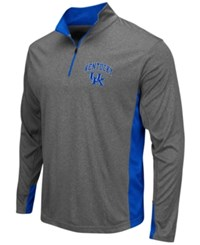 Colosseum Men's Kentucky Wildcats Atlas Quarter Zip Pullover Charcoal Royalblue