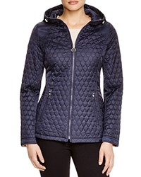Laundry By Shelli Segal Quilted Hooded Jacket Mystic Blue