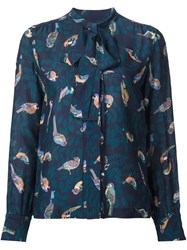 Elizabeth And James Bird Print Blouse Brown