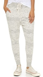 Free People Road Trip Jogger Pants Ivory Combo