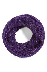 Women's Collection Xiix Glitter Fleck Infinity Scarf Purple