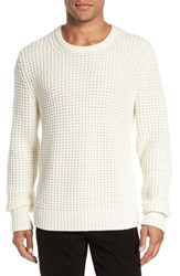 Vince Men's Chunky Wool And Cashmere Sweater Winter White