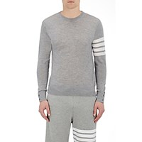 Thom Browne Men's Block Striped Sweater Light Grey