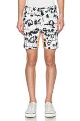 Opening Ceremony Palm Collage Reflex Shorts In Floral Black