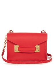 Sophie Hulme Milner Nano Envelope Leather Cross Body Bag Red
