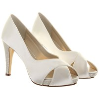 Rainbow Club Safia Satin Cross Over Court Shoes Ivory