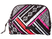 Vera Bradley Medium Zip Cosmetic Northern Stripes Cosmetic Case Gray