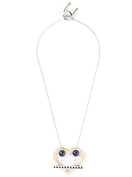 Uribe 'Lou' Heart Pendant Necklace Metallic