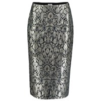 Sania Studio Silver Brocade Pencil Skirt