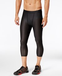 Reebok Men's Cropped Compression Leggings Black