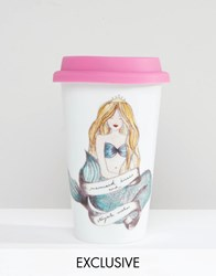 Paperchase Mermaid Fine Porcelain Take Out Cup Multi