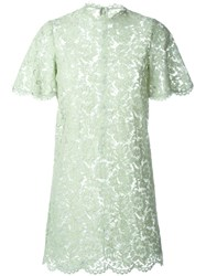 Valentino Lace Mini Dress Green