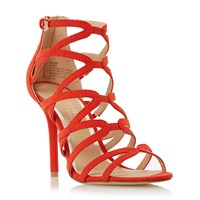 Head Over Heels Memi Caged Sandals Orange