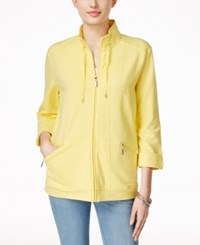 Karen Scott Lounge Zip Front Jacket Only At Macy's Sunshower