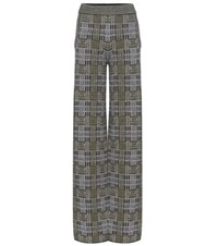 Bottega Veneta Plaid Wool And Mohair Blend Knitted Trousers Black