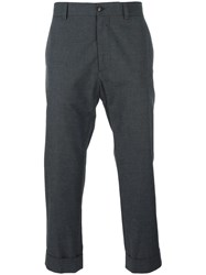 Moncler Gamme Bleu Cropped Tailored Trousers Grey