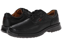 Ecco Fusion Moc Tie Black Leather Men's Lace Up Moc Toe Shoes