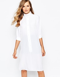 The Laden Showroom X Mirror Mirror High Neck Batwing Dress White