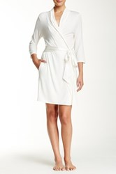 Fleurt Take Me Away Short Robe White