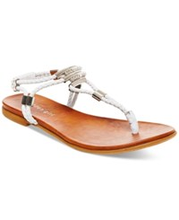 Madden Girl Madden Girl Flexii T Strap Flat Sandals Women's Shoes White
