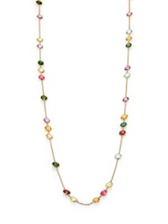 Marco Bicego Mini Jaipur Semi Precious Multi Stone Long Station Necklace Gold