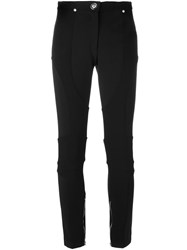 Versus Zipped Leg Skinny Trousers Black