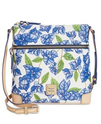 Dooney And Bourke Bougainvillea Crossbody White Blue