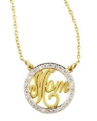 Mom Small Diamond Pendant Necklace Kacey K Gold