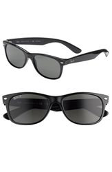 Ray Ban 'New Wayfarer' 55Mm Polarized Sunglasses Black