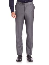 Pal Zileri Modern Fit Solid Wool Pants Grey