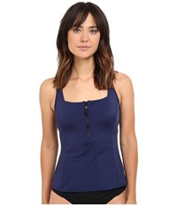 Nautica Soho Solids Tankini Na40197 Navy Women's Swimwear
