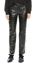 Marc By Marc Jacobs Coated Crinkle Pleather Pants Black