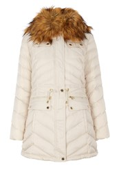 Dawn Levy Faux Fur Collar Jacker With Pockets Pearl