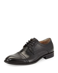 Rw Footwear Ethan Cap Toe Lace Up Oxford Black