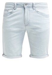 Pier One Denim Shorts Bleached Denim