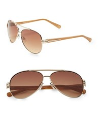 Vince Camuto 50Mm Aviator Sunglasses Gold