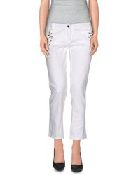 Denny Rose Trousers 3 4 Length Trousers Women White