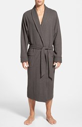 Men's Nordstrom Thermal Knit Robe Charcoal Heather