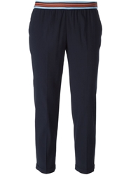 Viktor And Rolf Cropped Trousers Blue